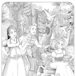 Assepoester in het bos kleurplaat