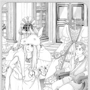 Assepoester met prins kleurplaat
