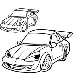 Cars kleurplaat