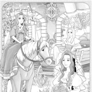 Prinses bruid kleurplaat