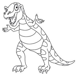 t rex kleurplaat