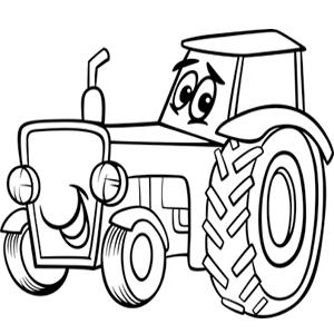Vriendelijke Tractor Kleurplaat