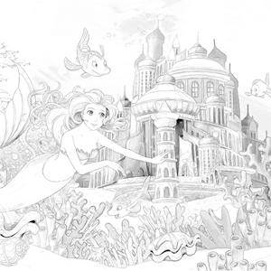 Prinses Met Eenhoorn Kleurplaat
