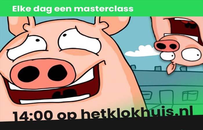 Klokhuis Masterclass - elke doordeweekse dag LIVE